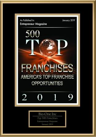 #304 Bio-One Inc., Entrepreneur Magazine Franchise 500